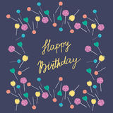 Sweet lollipops birthday card Stock Photography