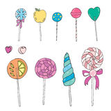 Sweet lollipops  set Royalty Free Stock Photos