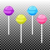 Sweet lollypop candy set. Colorful sugar canes Royalty Free Stock Photo