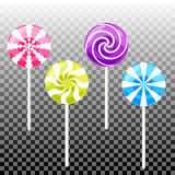 Sweet lollypop candy set. Colorful sugar canes Royalty Free Stock Photography