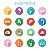 Sweet long shadow icons Stock Images