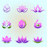 Sweet Lotus. Icon for decoration artwork - vector Royalty Free Stock Images