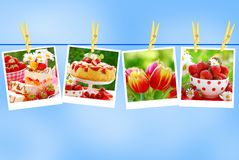 Sweet love collection against blue sky royalty free stock images