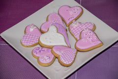Sweet love cookies. Delicious homemade cookies as a gift for someone special Stock Images