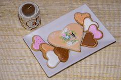 Sweet love cookies. Delicious homemade cookies as a gift for someone special Royalty Free Stock Photography