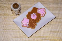 Sweet love cookies. Delicious homemade cookies as a gift for someone special Stock Photography