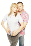 Sweet In Love Couple Portrait Stock Images
