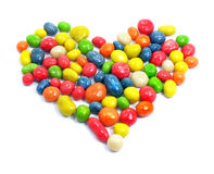 Sweet love heart candies Stock Photo