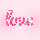 Sweet love lettering card Royalty Free Stock Photos