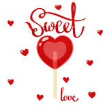 Sweet love lollipop Stock Image