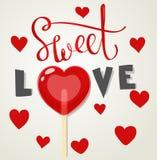 Sweet love lollipop Royalty Free Stock Image