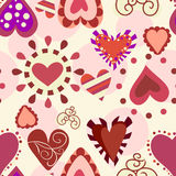 Sweet love pattern Stock Image