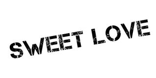 Sweet Love rubber stamp Stock Photo