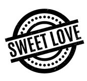 Sweet Love rubber stamp Stock Image