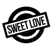 Sweet Love rubber stamp Stock Images