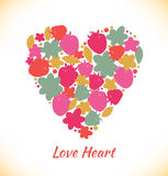 Sweet love. Template with berries and heart for greeting cards Royalty Free Stock Image