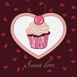 Sweet love. Template  design for card Royalty Free Stock Image