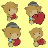 Sweet lovely baby camel cartoon set Royalty Free Stock Image