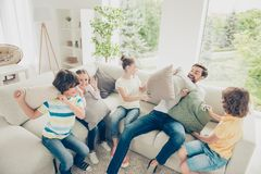 Sweet, lovely, careless, carefree moments concept. Cheerful fami stock photography