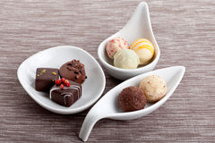 Sweet luxury deliscious truffle pralines collection Royalty Free Stock Photography