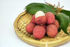 Sweet lychee fruit Royalty Free Stock Images