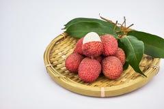 Sweet lychee fruit Stock Image