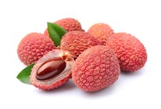 Sweet lychees fruits Stock Photography