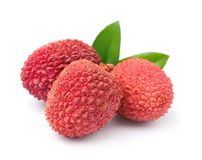 Sweet lychees fruits Royalty Free Stock Images
