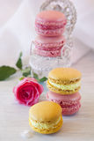 Sweet Macarons stock photo