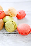 Sweet macaroon on the boards Stock Photo