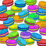 Sweet macaroon dessert food illustration background french colorful pastry. Sweet macaroon dessert food illustration background french colorful Royalty Free Illustration