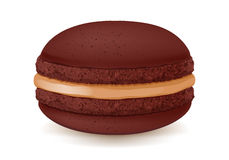 Sweet macaroon dessert  on white. Royalty Free Stock Photography