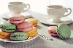 Sweet macaroons Stock Images