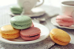 Sweet macaroons Royalty Free Stock Images