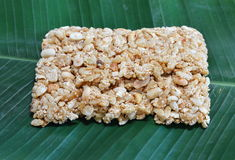 Sweet made of rice nut sesame for Thai merit day Stock Images