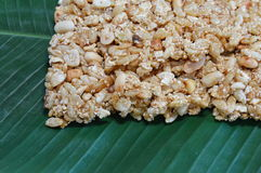 Sweet made of rice nut sesame for Thai merit day Royalty Free Stock Photography