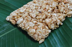 Sweet made of rice nut sesame for Thai merit day Stock Photos