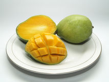 Sweet Mangoes. Sweet and lovely mangoes. Fresh fruits for health royalty free stock photo