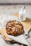 Sweet maple syrup bread Royalty Free Stock Photo