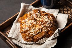Sweet maple syrup bread Stock Photo