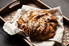 Sweet maple syrup bread Royalty Free Stock Image