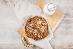 Sweet maple syrup bread Royalty Free Stock Photos