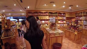In Candy Shop stock video footage