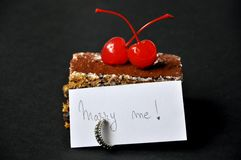 Sweet marriage proposal  Stock Photo
