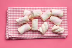Sweet marshmallow on napkin Royalty Free Stock Image