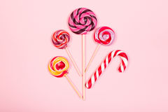 Sweet marshmallows with lollipop Stock Image
