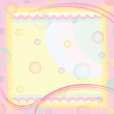 Sweet me. Pastel colors is a sponge Royalty Free Stock Photos