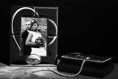 Sweet memories. Sweet wedding memories with black background Stock Image