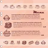 Sweet menu Royalty Free Stock Images