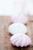 Sweet meringues Stock Photos